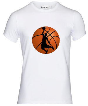 تیشرت با طرح بسکتبال