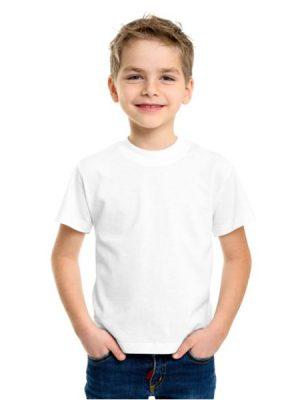 تیشرت نخی کودک سفید جامه نو
