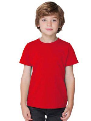 تیشرت نخی کودک قرمز جامه نو
